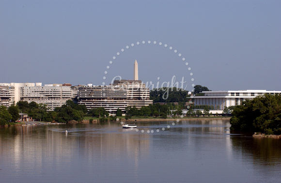 The Potomac River, Watergate Complex & John F. Kennedy Center - Washington, D.C.