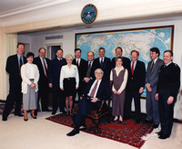 Kim M. Simpson With Secretary of Defense, Les Aspin And Team - The Pentagon, 1993.
