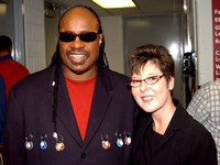 Kim M. Simpson With Stevie Wonder - Washington, DC, 2007