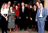 Kim M. Simpson With Secretary of Defense, Les Aspin And Wisconsin Crew - The Pentagon, 1993